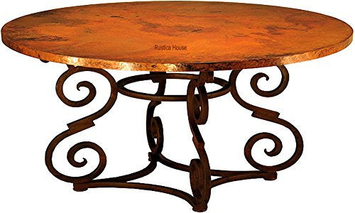 rustic copper table