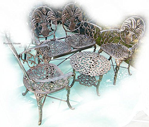 Outdoor Aluminum French Furniture set