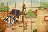 mexican ceramic tile backsplash mural