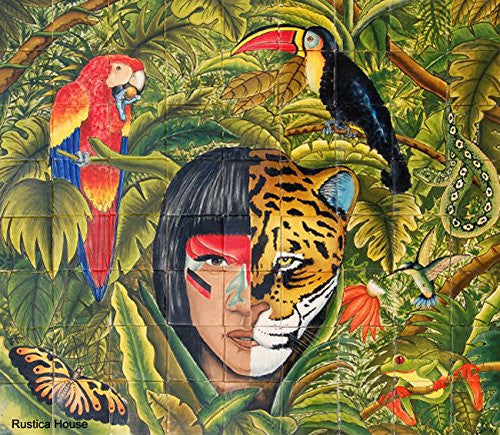Wall Talavera Mural 'The Jungle'
