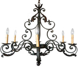 beautiful iron chandelier