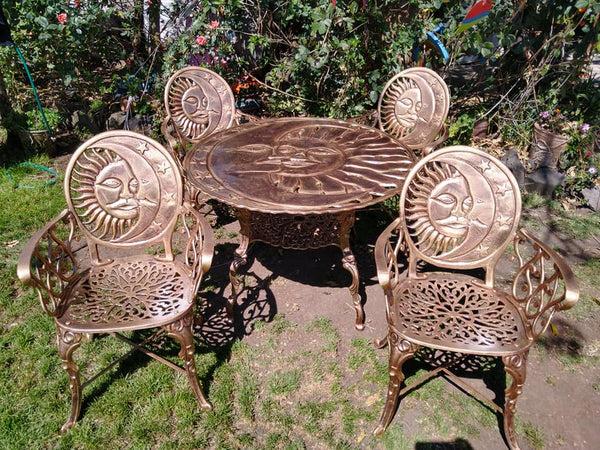 old European patio dinning set
