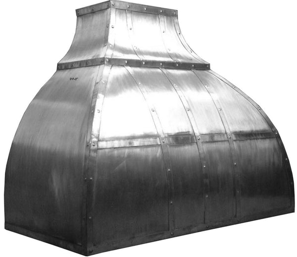 custom produced zinc oven hood