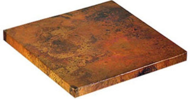 "24""x 24"" square copper tabletops"