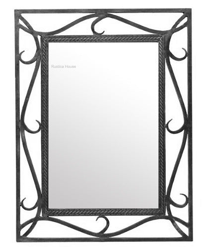 custom made iron mirror