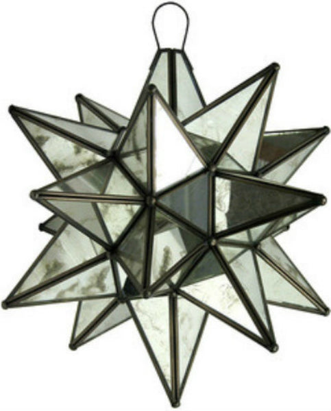large glass star lamp mexico