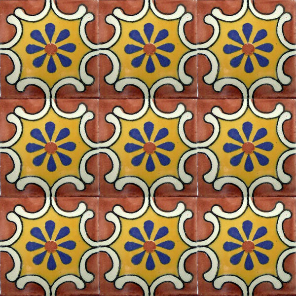 old European talavera tile