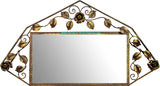 country style iron mirror