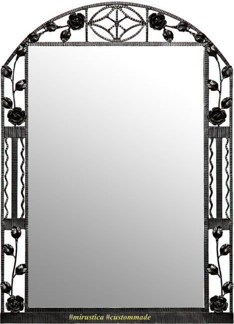 contemporary iron mirror