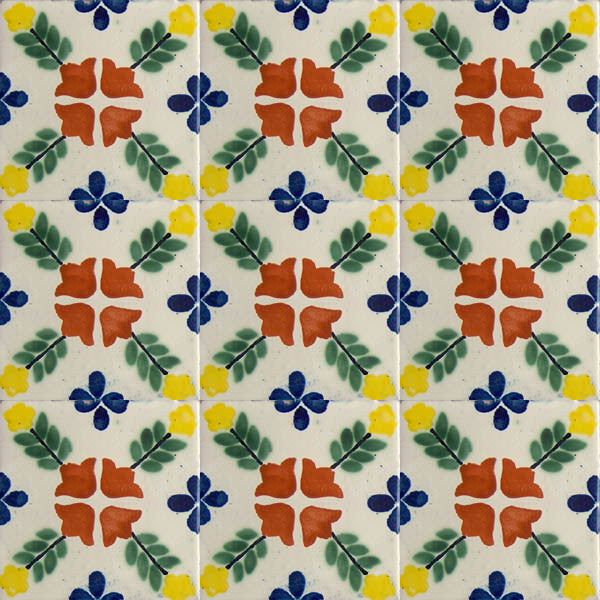 terracotta green talavera tile