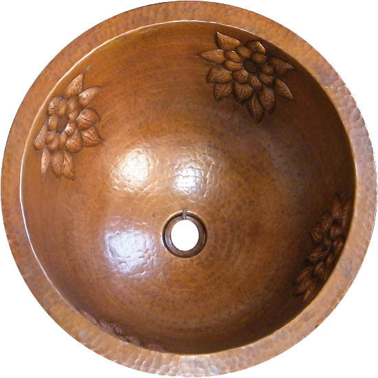mexican round copper bathroom sink