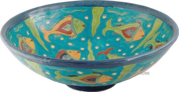 old world round talavera vessel sink
