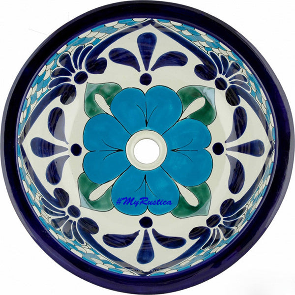 traditional round talavera bathroom sink
