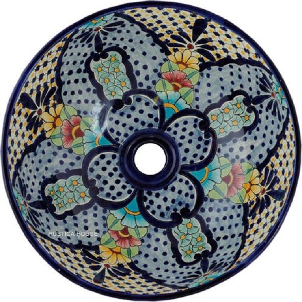 old world round talavera bathroom sink