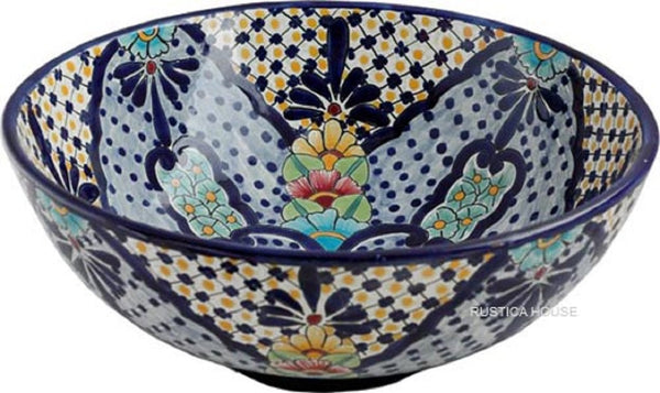 traditional round talavera vessel sink
