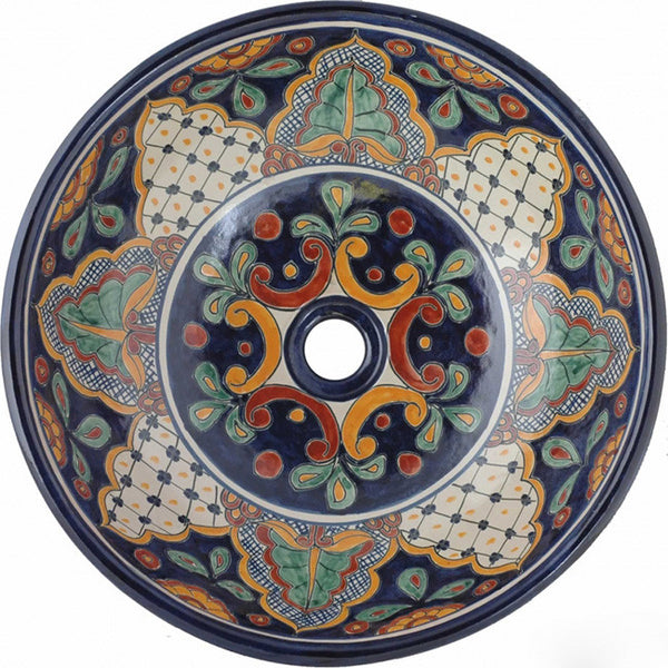 old European round talavera bathroom sink