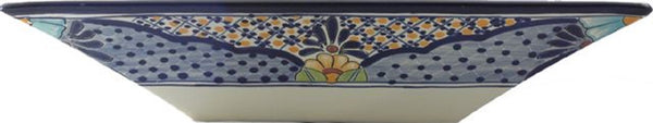 South Eastern rectangular talavera vessel sink