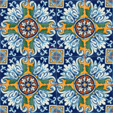 blue yellow talavera tile