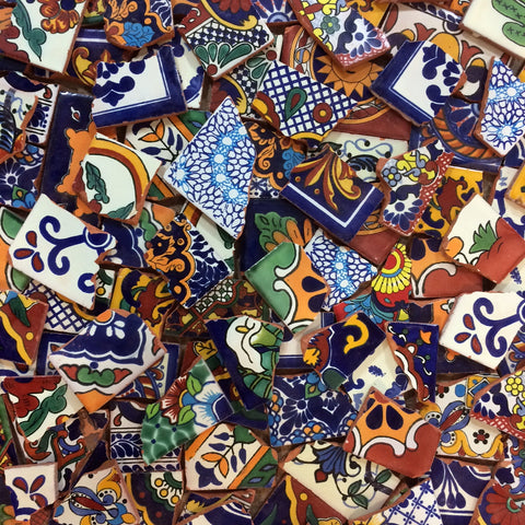 Broken Mexican Mosaic Tiles