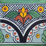 green black mexican ceramic tile