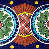 cobalt terra cotta mexican ceramic tile