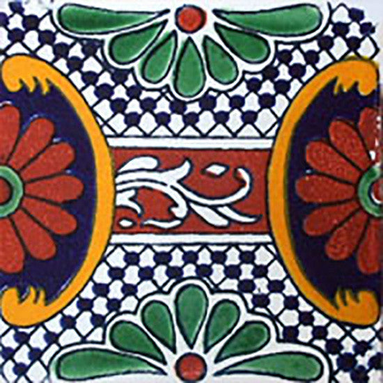 terra cotta cobalt mexican ceramic tile