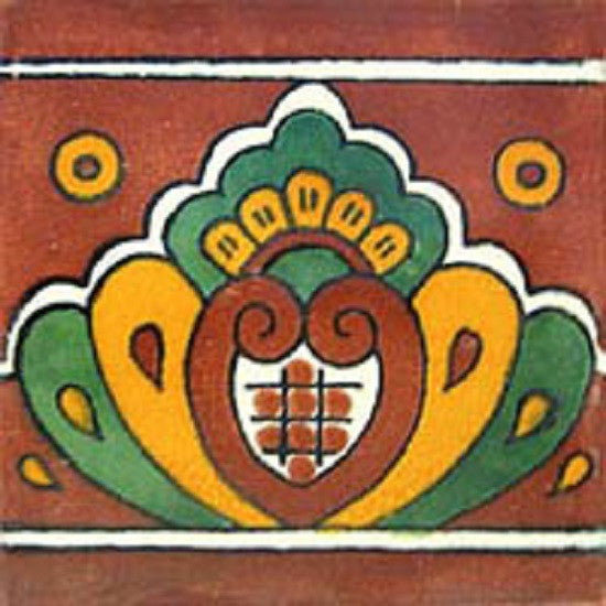 old European mexican ceramic tile