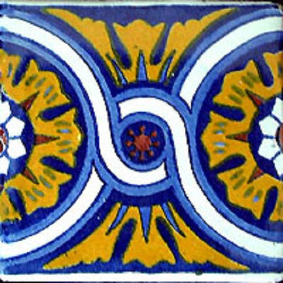 yellow mexican ceramic tile
