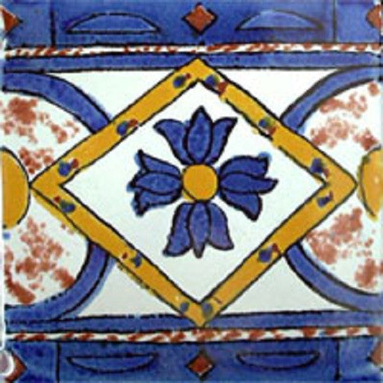 blue mexican ceramic tile
