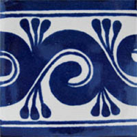 blue white mexican ceramic tile
