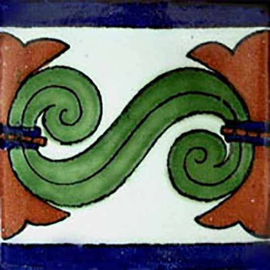country mexican ceramic tile