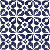 contemporary dark blue talavera tile
