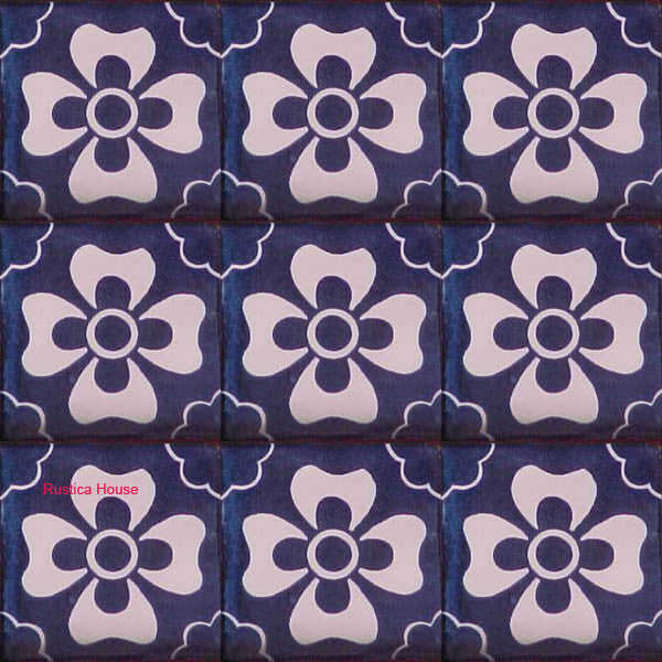 mexican white talavera tile