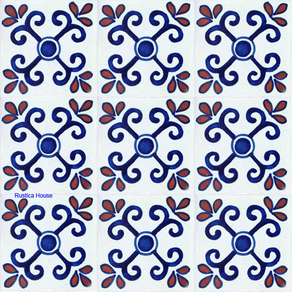 old world blue talavera tile