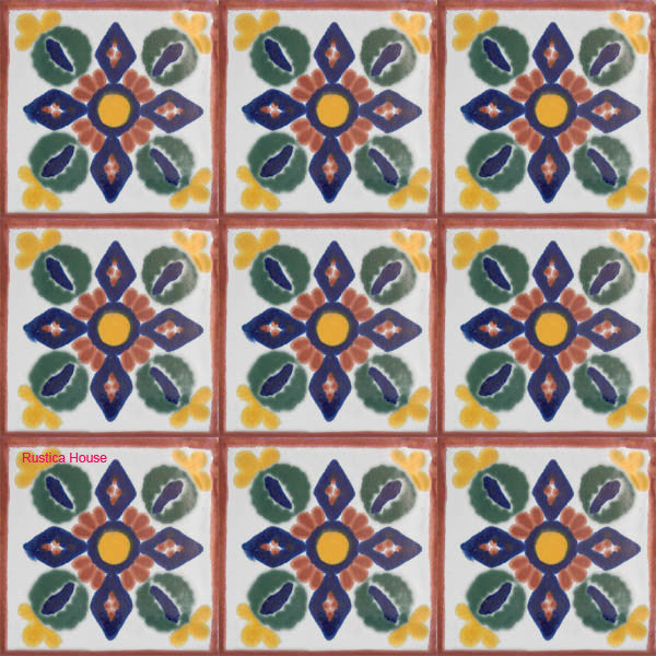 contemporary navy blue talavera tile