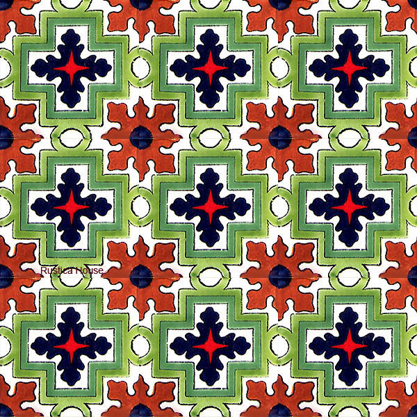 old world green talavera tile