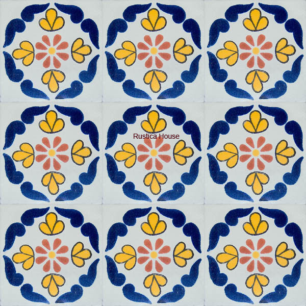 traditional navy blue talavera tile
