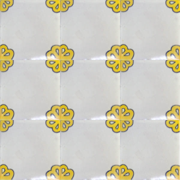traditional yellow talavera tile