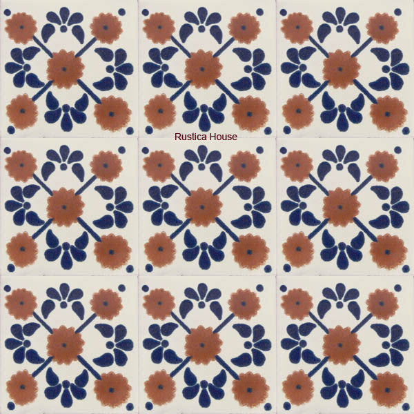 country terracotta talavera tile