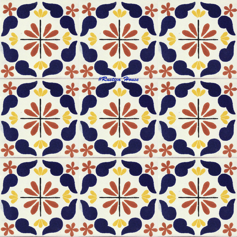 old world cobalt terracotta talavera tile