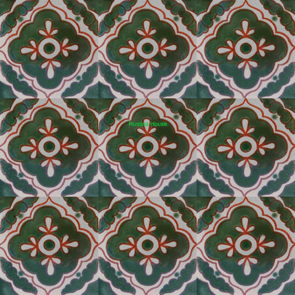 mexican green talavera tile
