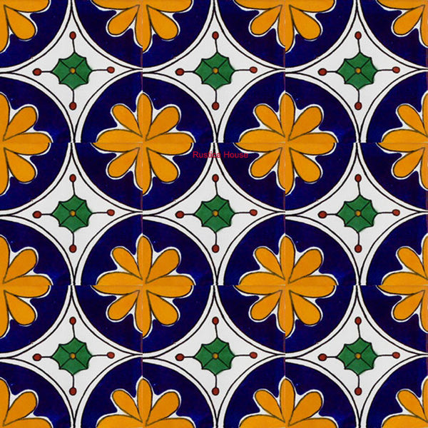 contemporary cobalt talavera tile