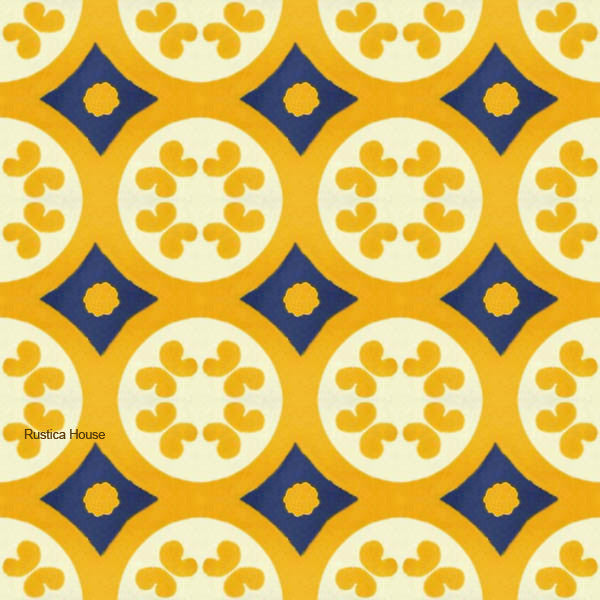 country yellow talavera tile