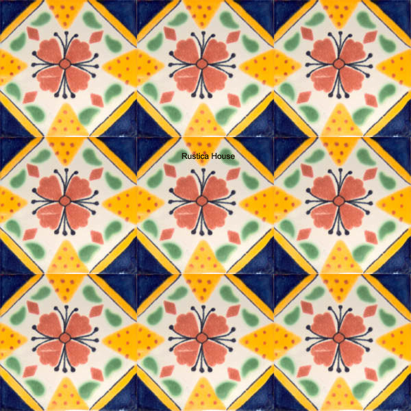 old European light yellow talavera tile