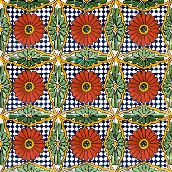 contemporary terracotta talavera tile