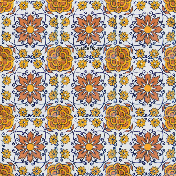 country terracotta yellow talavera tile