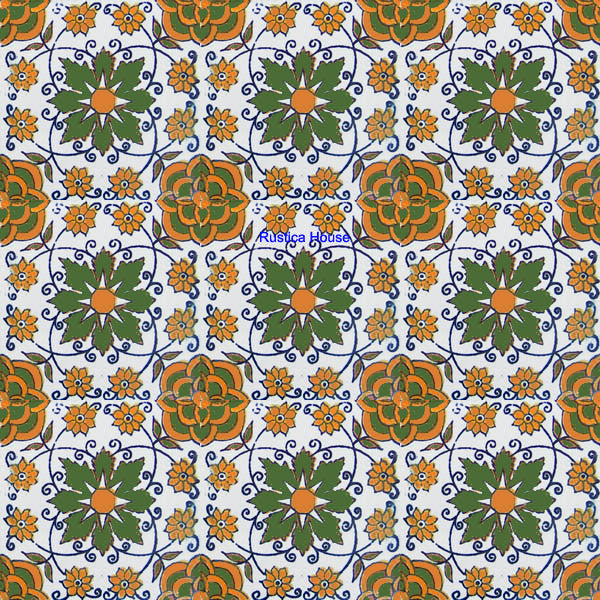 mexican green yellow talavera tile