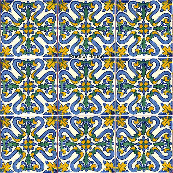 traditional light blue talavera tile