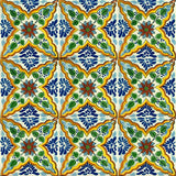 yellow blue talavera tile