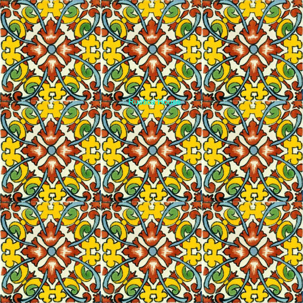 mexican yellow talavera tile
